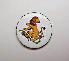 Horoszkópos oroszlán tűzzománc medál