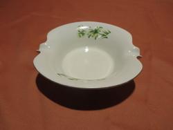 Zöld virágos Aquincumi hamutál, hamutartó