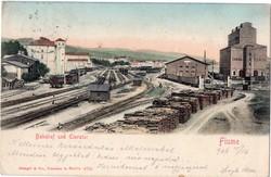 Fiume (Rijeka) pályaudvar és teherlift