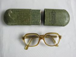 Régi Lyra szemüveg Ofotért papír tokban