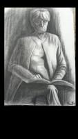Kmetty János:Olvasó hölgy