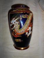 Kínai kézzel festett  váza 18 cm