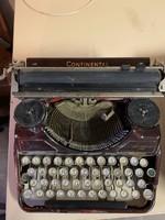 Continentál 340 antik régi írógép bordó