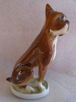 Zsolnay porcelán boxer kutyája! a legtermészetesebb színben vitrin állapotban .....