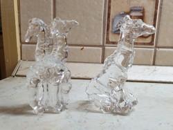 Ólomkristály zsiráf , kis szobor  2 db  eladó!