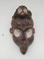Antik afrika afrikai majom maszk Bamileke népcsoport african mask Kamerun zk9