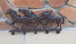 Gyönyörű  vas lovas fogas, fali fogasok