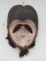 Antik afrika afrikai maszk Kwele népcsoport african mask Gabon zk6