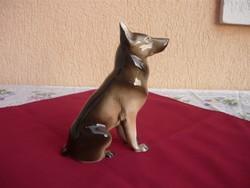 Egy gyönyörű Német juhászkutya, Royal Dux, Hibátlan, 21 cm!