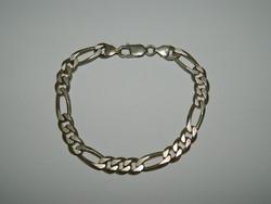 Vastag szemű 925 ezüst férfi karkötő