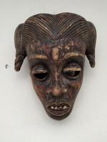 Afrikai antik maszk Anang népcsoport Nigéria zk16