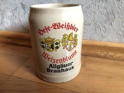 Allgäuer Brauhaus - Wiezenblume címeres kerámia sörös korsó  15.