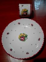 Gmundner kerámia reggeliző:  tányér csészével