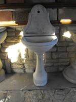 Eredeti Műkő falikút Fagyálló fehér kő fali mosdó kültéri kerti csap ívó kút
