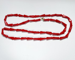 Csodaszép vörös korall nyaklánc!