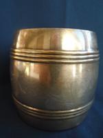 Nyszilver hordó alakú sörös korsó nagy méretű cca 0,5-07 literes lehet