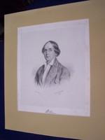 Albert Decker (Colmar 1817-1871 Wien) : W Marr képmása (1842) 267 x 187 mm