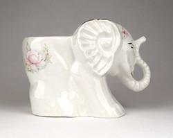 1C531 Jelzett elefánt alakú angol porcelán virágtartó kaspó