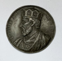 Lothár nyugati frank király plakett.1839