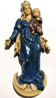 Régi festett gipsz Szűz Mária és Kis Jézus (Ér-139)