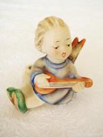 Régi Hummel Goebel porcelán kis angyal gyertyatartó 6 cm