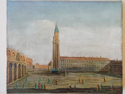 Velence olaj, vászon festmény Remy szignóval, hibátlan