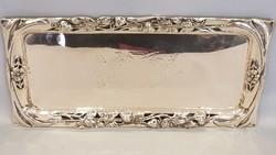 Gyönyörű szecessziós ezüst tálca