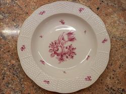 6 db gyönyörű herendi ritka VBSO mintás mély(leveses)tányér szett