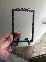 régi art deco fényképtartó, rézből, 12 cm magas.