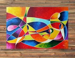 Preszy: KUBISTA AKT III. festmény 40x60(x2cm)