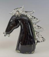 Muránói üveg paripafej Seguso jelzéssel