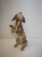 Metzler orloff tacskó m&o porcelán kutya