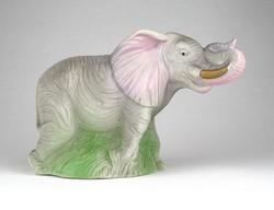 1C534 Felfelé álló ormányú jelzett porcelán elefánt 16 cm