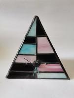 Tiffany piramis asztali óra