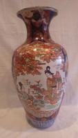 Antik nagyméretű kézzel festett Japán porcelán váza