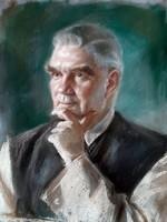 Emanuel Béla ( 1879 - 1976 ) SCHWARTZ ELEMÉR PORTRÉJA 1949 BŐL !!!