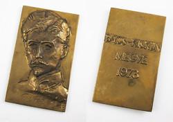 Bajnok Béla: Petőfi Sándor / Bács-Kiskun Megye 1973 emlékérem