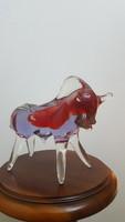 Gyönyörű dísz üveg bika