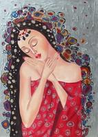 B.Tóth Irisz-APHRODITÉ- festmény 45x32cm