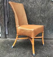 A Vincent Sheppard dizájner rattan vintage szék, székek, 3 db együtt! Lloyd Loom