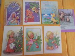 Füzesi Zsuzsa grafikai  képeslapok. Egyben: 1400 Ft.