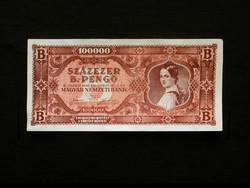 100 000 BILPENGŐ - 1946 - HAJTATLAN - NAGYON SZÉP -