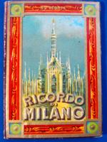 """Szecessziós """"Milánói emlék"""" leporellós képesalbum 1930-ból"""