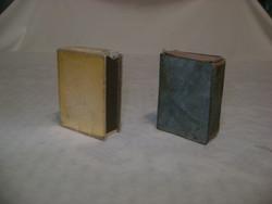 Két darab régi, retro gyufatartó - fémből