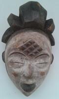 Antik patinás punu népcsoport afrikai maszk Afrika Gabon dob3