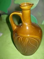 Kasstelanszky barna kerámia korsó hibátlan 23x14 cm