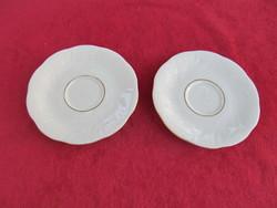 2 db. Solingen csészealj egyben (12 cm, aranyozott szélű, sorszámozott - CRC Solingen Germany)