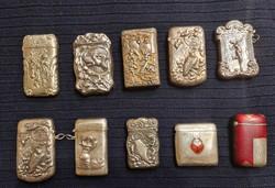 Ezüst gyufatartó gyűjtemény