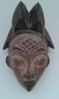 Antik patinás punu népcsoport afrikai maszk Afrika Gabon fal23
