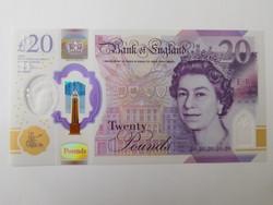 Anglia 20 pounds  2018 UNC Polymer